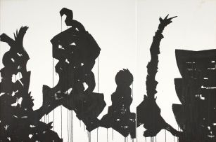 Marcus Neustetter; Shadow Scape - Smithsonian National Museum of African Art I - III, diptych