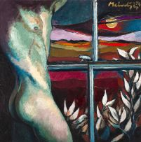 Johannes Meintjes; Nude at Window