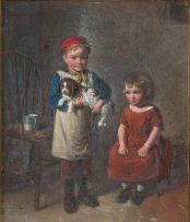 William Hemsley; Children with a Dog