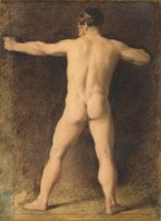Circle of William Hunt; Study of a Nude Figure