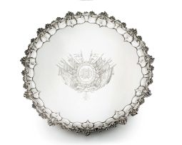 A William IV silver salver, John Wellby, London, 1832