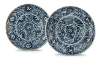 Two Chinese blue and white 'Diana Cargo' dishes, circa 1816