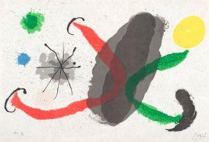 Joan Miró; Plate XVI, Le Lézard aux plumes d'or