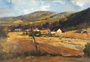 Errol Boyley; Cattle in a Rural Landscape