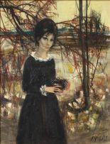Jean-Baptiste Valadié; Woman with Bird's Nest