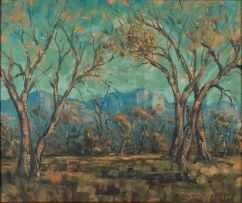 Stefan Ampenberger; Trees with Distant Mountain