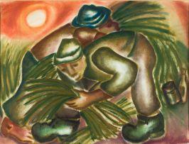Hennie Niemann Snr; Men Harvesting