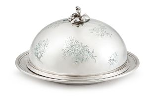 A Victorian silver covered cheese dish, Robert Garrard II, London, 1854