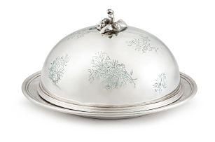 A Victorian silver covered cheese dish, Robert Garrard II, London, 1854