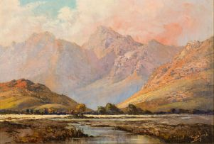 Tinus de Jongh; Mountain River Valley