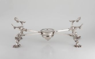 A Sheffield plated dish cross, early 19th century
