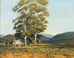 Alfred Gundersen; Farmhouse with Gumtrees