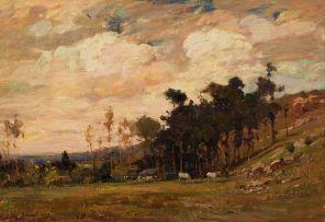 Adriaan Boshoff; Landscape with Horses