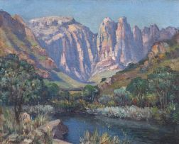 Hugo Naudé; Mountain Landscape