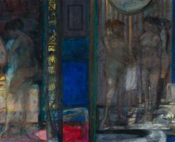 Robin Philipson; Interior with Figures