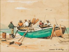 Johnnie de Kock; Fishermen and Boats
