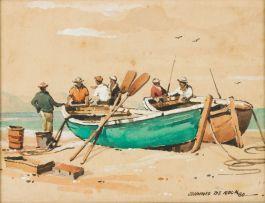 Johnnie de Kock; Fishermen and Boats