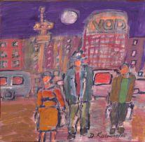 David Koloane; Hillbrow at Night