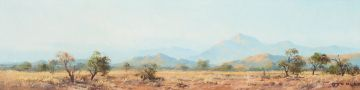 Otto Klar; Veld Landscape with Mountains