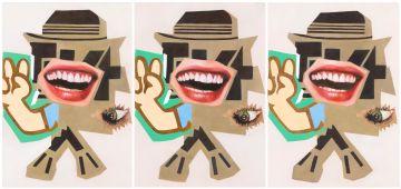 Asha Zero; Portrait of Zoltron X (triptych)