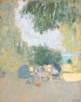 Edouard Vuillard; Goûter en plein air (Tea in the open air)