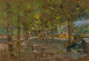 Edouard Vuillard; La lecture sous les arbres à Amfreville