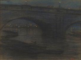 Hugo Naudé; A Bridge by Night