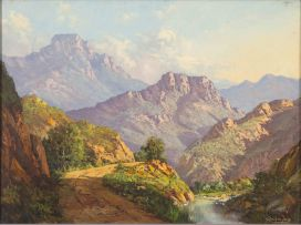 Gabriel de Jongh; A Mountain Pass