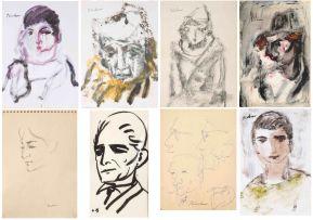 Carl Büchner; Six Portraits of Boys, six