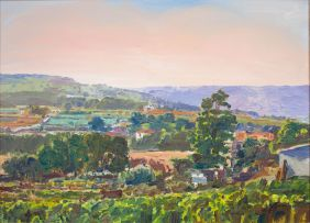 Gerhard Batha; Landscape with Vineyards
