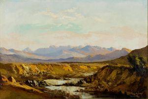 Tinus de Jongh; River Landscape