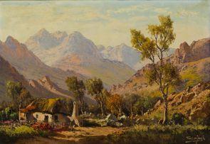 Tinus de Jongh; Landscape with Thatched Cottage
