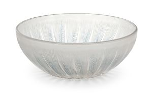 A René Lalique 'Epis no. 1' frosted, clear and stained glass bowl, designed 1921