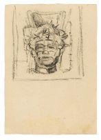 Alexis Preller; Christ Head (Preparatory Drawing)