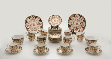 A Royal Crown Derby Porcelain Co Ltd part coffee service, 1926-1927