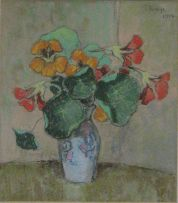 Conrad Theys; Nasturtiums in a Vase