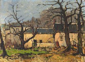 Pieter Wenning; The Yellow House (Bishopscourt in Winter)