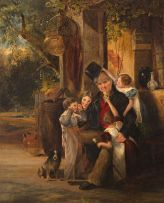 Attributed to Robert Farrier; Grandfather's Pets