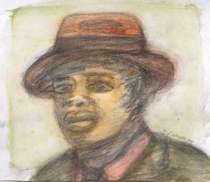 David Koloane; Portrait of a Man with Hat