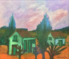 Jan Vermeiren; Landscape with Cottages