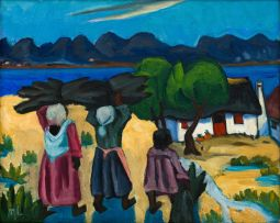 Maggie Laubser; Women Carrying Wood