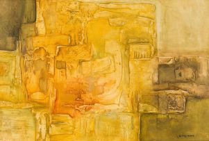 Jan Dingemans; Yellow Abstract