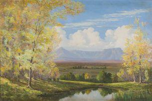 Vera Volschenk; Autumn View of the Drakensberg