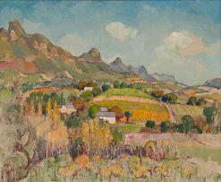 Gregoire Boonzaier; Vanaf die Bovlei, Wellington. K.P.