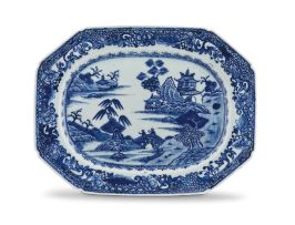 A Chinese blue and white Nanking dish, Qing Dynasty, 18th/19th century