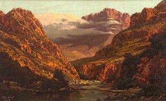 Tinus de Jongh; River through Mountains