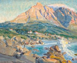 Siegfried Hahn; View of Glen Beach and Camps Bay from Maiden's Cove