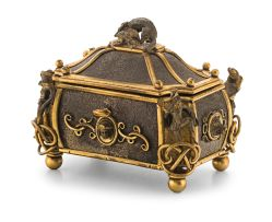 An Austro-Hungarian gilt-metal casket, late 19th century