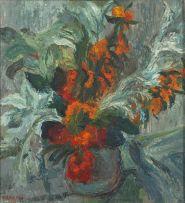 Florence Zerffi; Flowers in a Vase