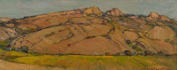 Piet van Heerden; Landscape with Rocky Mountains